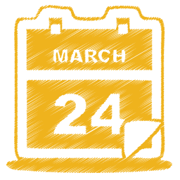 Yellow calendar icon