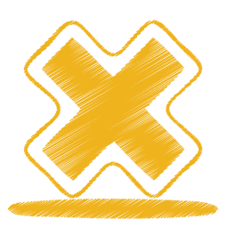yellow cross icon