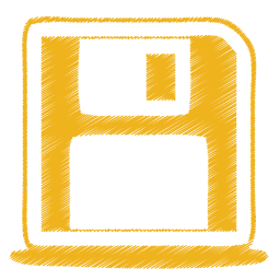 yellow disk icon
