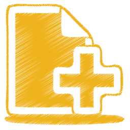 yellow document plus icon