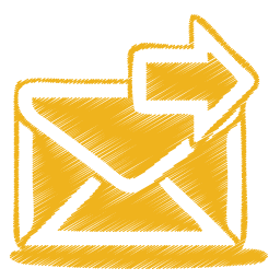 yellow mail send icon