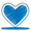 Blue-heart icon