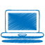 Blue laptop icon