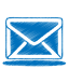 Blue mail icon