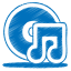 blue music cd icon