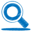 Blue-search icon