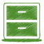 green archive icon