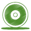Green cd icon