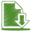Green document download icon