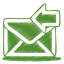 Green-mail-receive icon