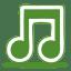 Green music icon