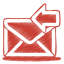 red mail receive icon