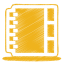 Yellow-address-book icon