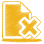 yellow document cross icon
