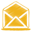 yellow mail open icon