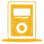 Yellow mp3 player icon