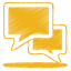 yellow talk icon