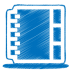 Blue-address-book icon