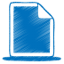 Blue-document icon