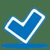 Blue-ok icon