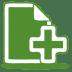 Green-document-plus icon