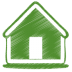 Green-home icon