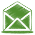 Green-mail-open icon