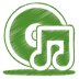 Green-music-cd icon