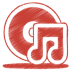 Red-music-cd icon