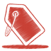 Red-tag icon