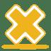 Yellow-cross icon