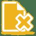 Yellow-document-cross icon