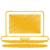 Yellow-laptop icon