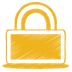 Yellow-lock icon