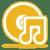 Yellow-music-cd icon