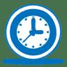 Blue-clock icon