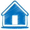 Blue-home icon