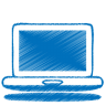 Blue-laptop icon