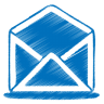 Blue-mail-open icon