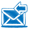 Blue-mail-receive icon