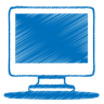 Blue-monitor icon