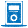 Blue-mp3-player icon