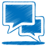 Blue-talk icon