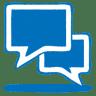 Blue-talk icon