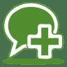 Green-balloon-plus icon