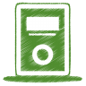 Green-mp3-player icon