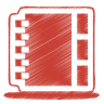 Red-address-book icon