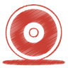 Red-cd icon