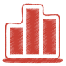 Red-chart icon