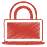 Red-lock icon